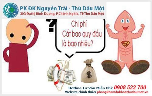 Giá cắt bao quy đầu ở bệnh viện Thuận An Bình Dương bao nhiêu tiền?