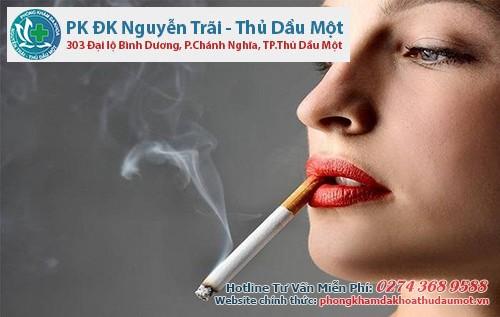 Không nên hút thuốc lá để tránh làm cho bệnh giang mai nặng hơn