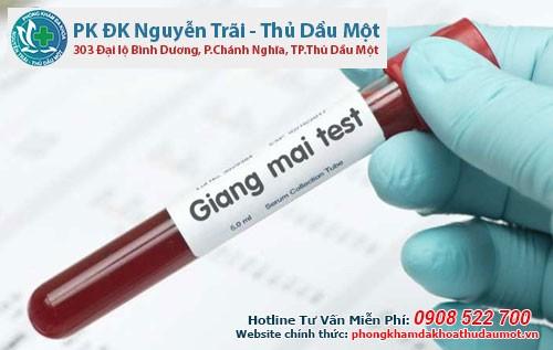 Xét nghiệm máu có xác định được bệnh giang mai không?
