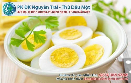 trứng tốt cho người bệnh lậu