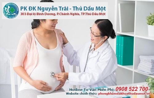 cách đặt thuốc phụ khoa khi mang thai