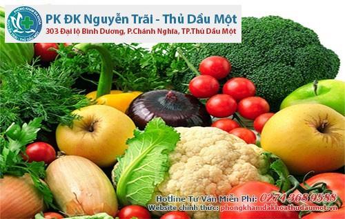 Ăn nhiều trái cây và rau xanh giúp ngăn ngừa bệnh trĩ