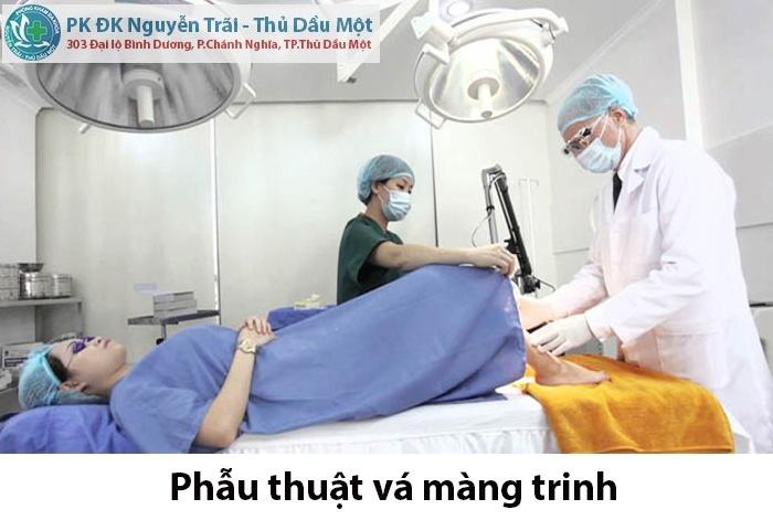 Cách phẫu thuật vá màng trinh