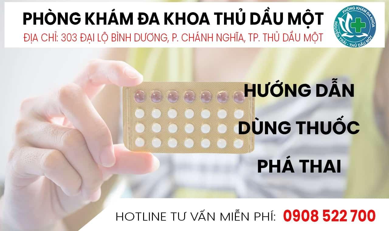 hướng dẫn dùng thuốc phá thai tại bình dương