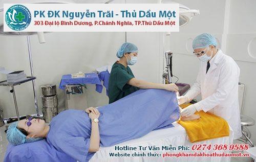 Thực hiện quy trình khám viêm âm đạo tại Thủ Dầu Một