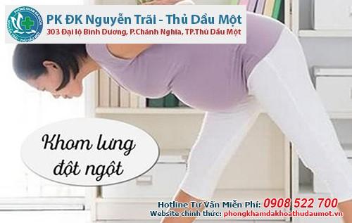 Khom lưng hành động dễ gây sảy thai các mẹ bầu cần hết sức lưu ý