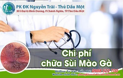 Giá điều trị sùi mào gà phòng khám đa khoa TDM là bao nhiêu?