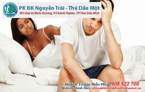 bệnh nam khoa ảnh hưởng không nhỏ đến chất lượng tình dục.