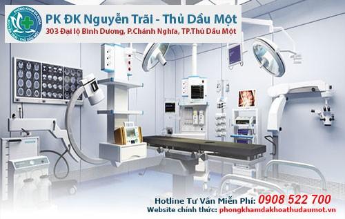 Trang thiết bị tại phòng khám là hiện đại và tiên tiến
