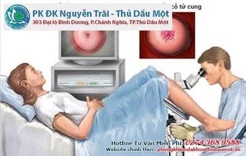 Đốt viêm lộ tuyến cổ tử cung