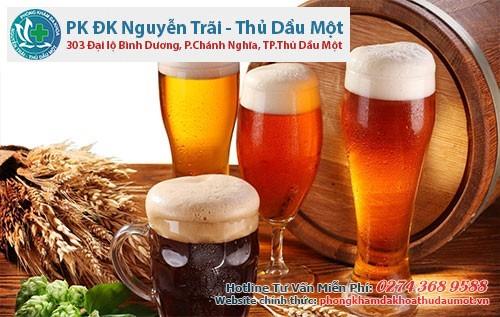 Thường xuyên uống rượu bia gây yếu sinh lý